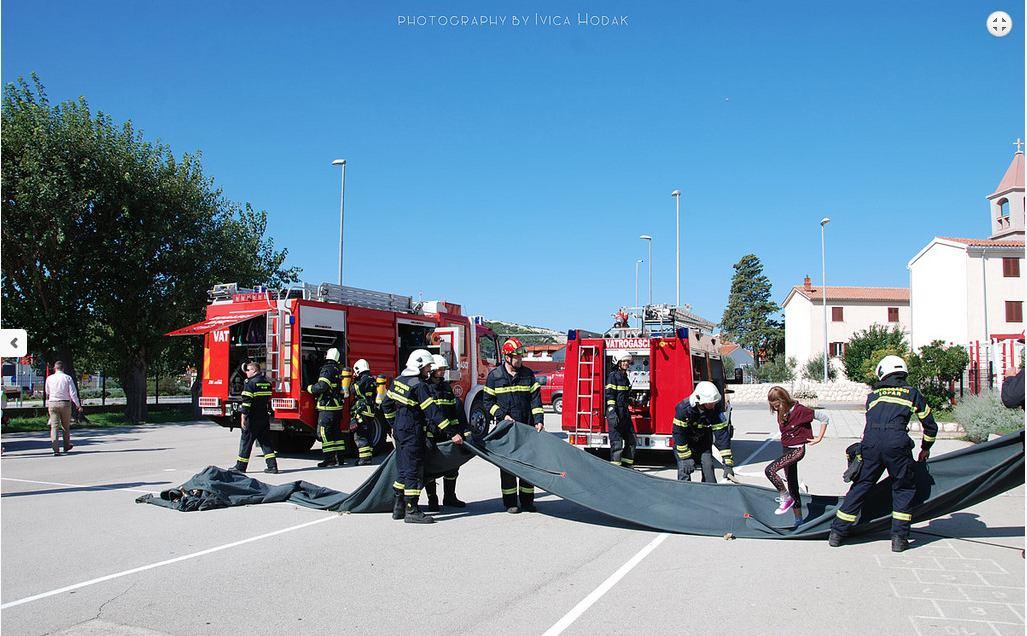 Rapski vatrogasci održali vježbu spašavanja