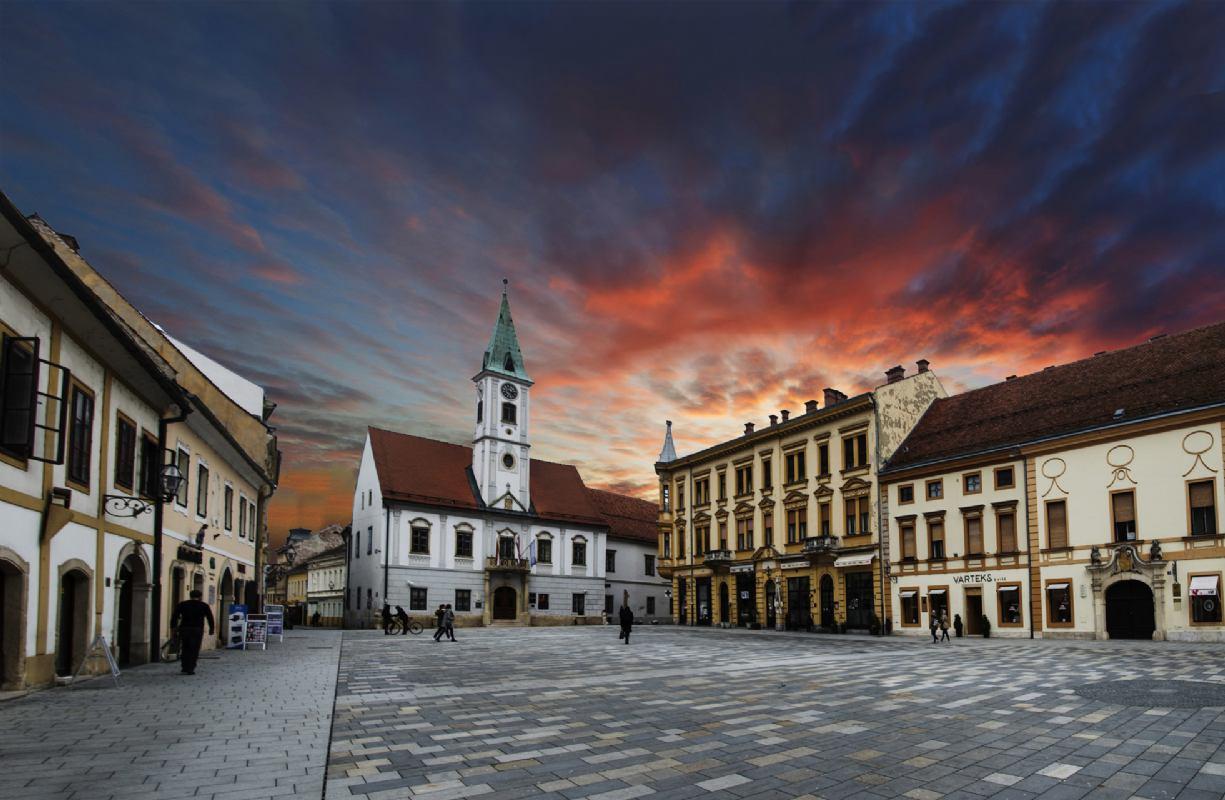 Sračinec - Reljef u kamenu kao spomen obilježje katastrofalnog požara u Varaždinu