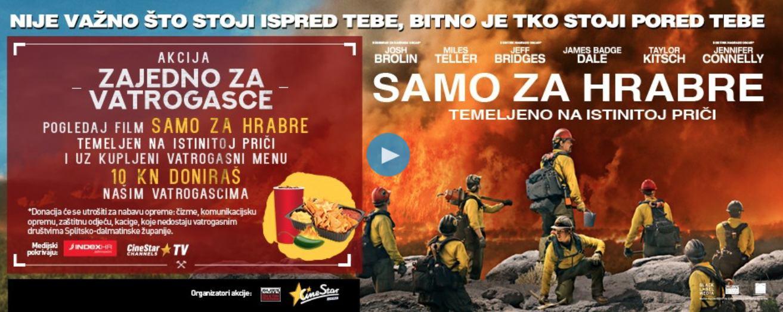 SAMO ZA HRABRE! - Film o vatrogascima u kinima širom Hrvatske
