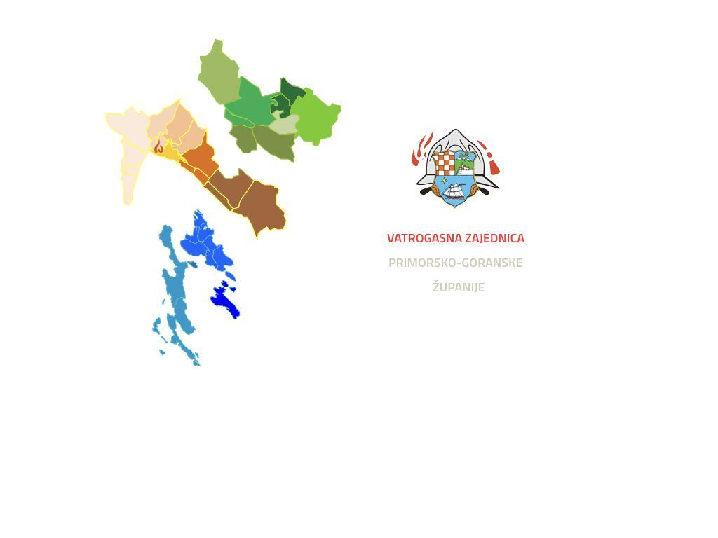 Teritorijalni ustroj Vatrogasne zajednice Primorsko-goranske županije