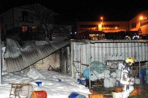 Požar skladišta u Žegotima - Kastav