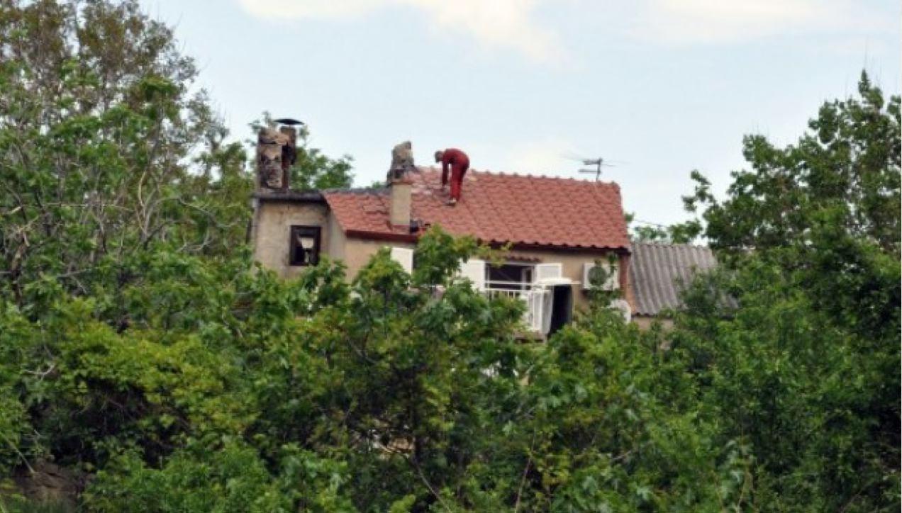 Požar kuće u Batomlju kraj Baške