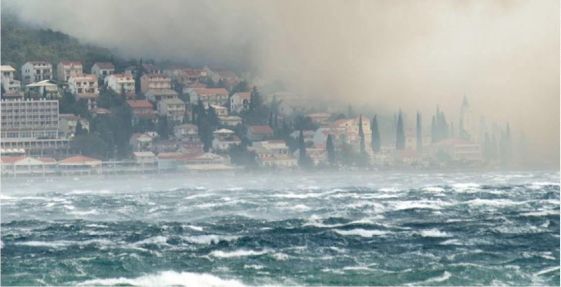 Na današnji dan, 23. srpnja 2012. snažan požar zaprijetio Crikvenici