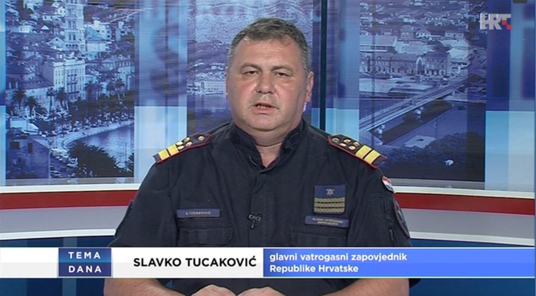 Glavni vatrogasni zapovjednik RH, Slavko Tucaković gost Teme dana HRT1