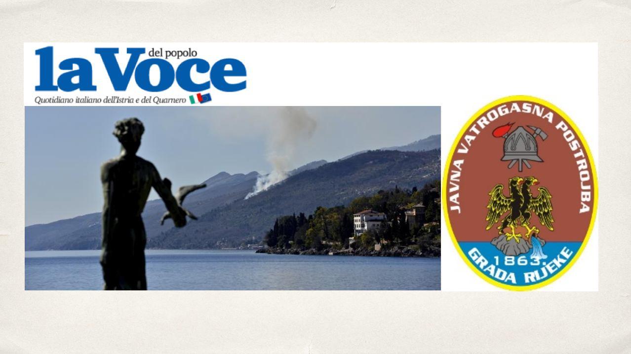 Riječki La Voce del popolo o riječkim vatrogascima