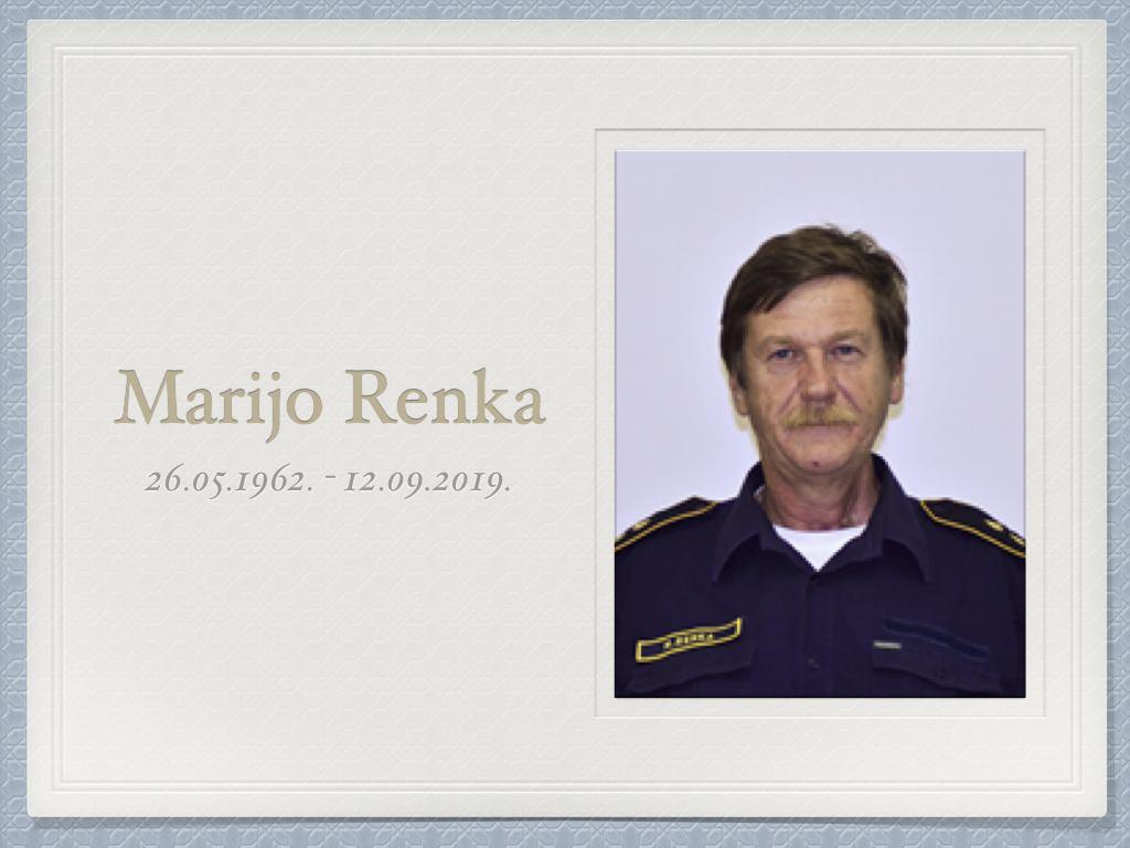 Umro je naš kolega, gospodin Marijo Renka