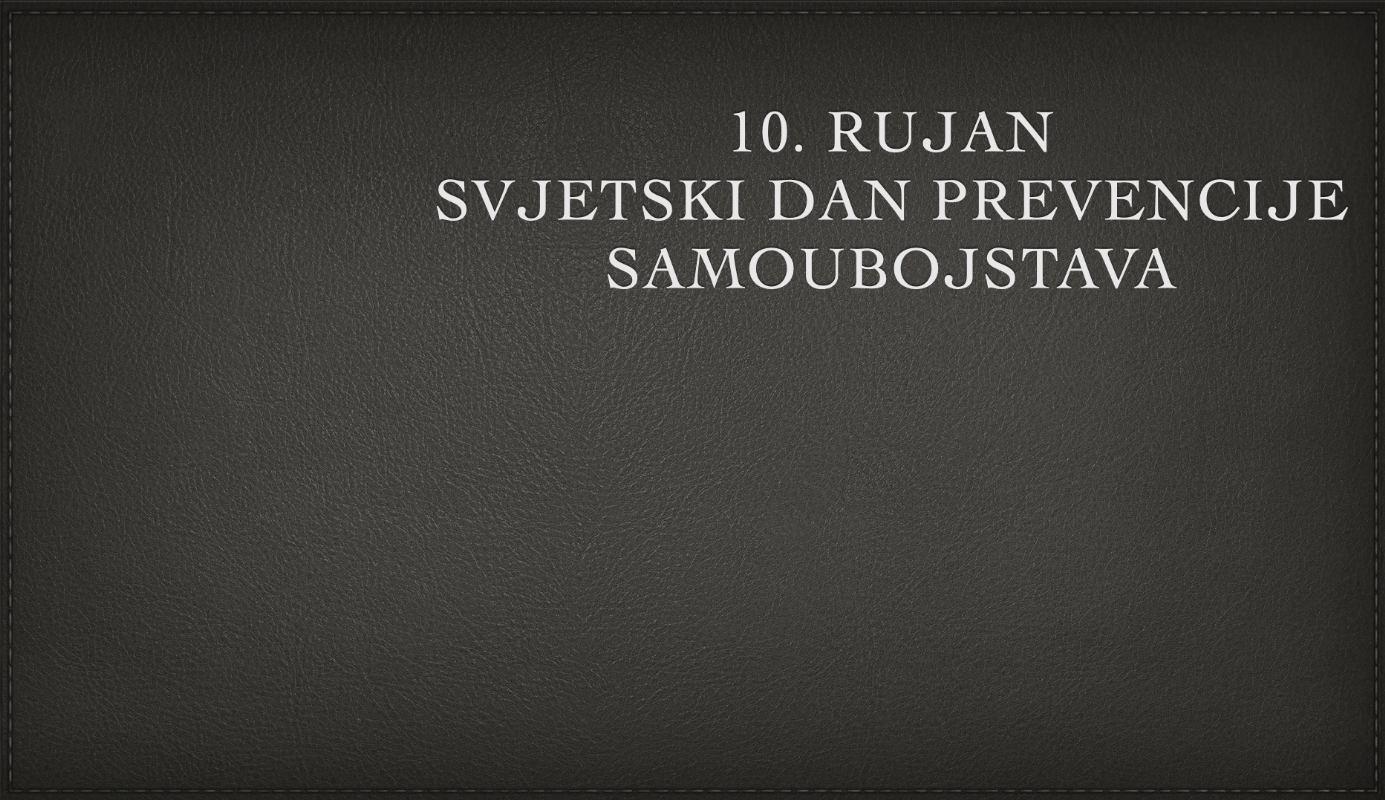 Svjetski dan prevencije samoubojstava - 10. rujan