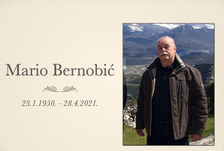 Preminuo je naš dragi kolega Mario Bernobić