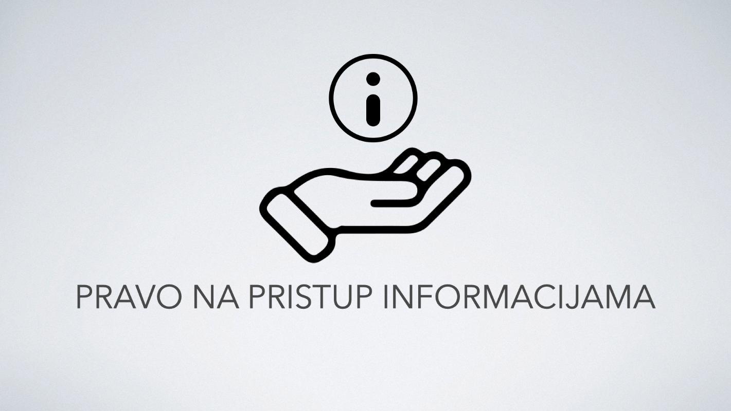 Obavijest o načinu i uvjetima ostvarivanja prava na pristup informacijama